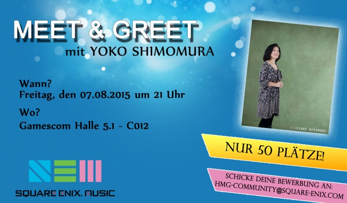 Meet & Greet with Yoko Shimomura  Gamescom 2015