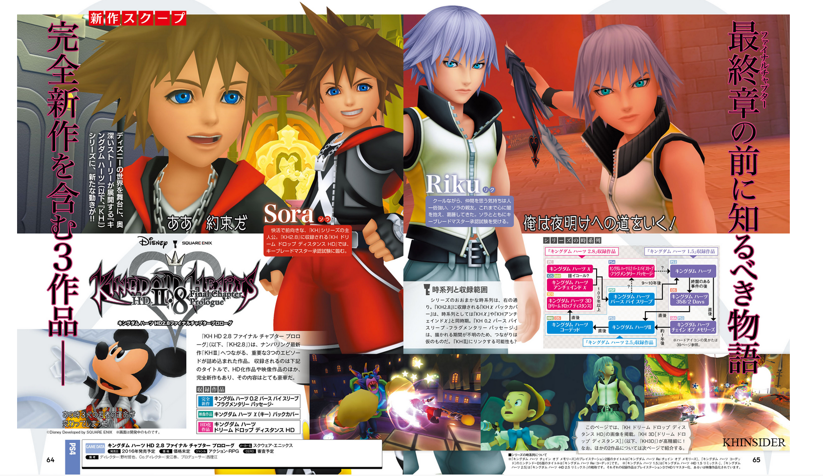 Kingdom Hearts 2.8 featured in Famitsu (Scans, Synopsis, Interviews)