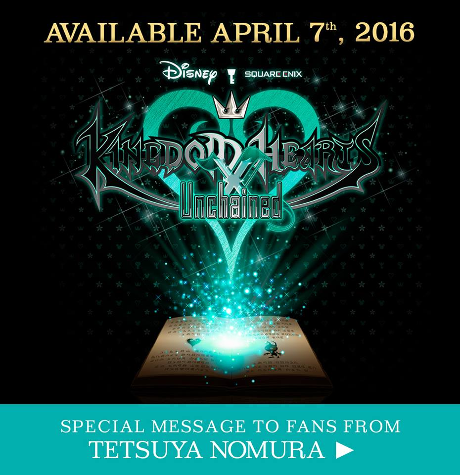 Kingdom Hearts Unchained X Official Release Date – April 7 2016