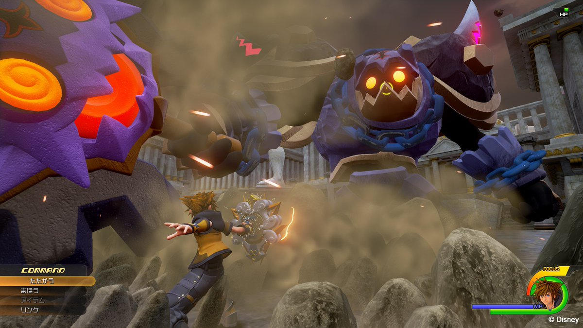 Kingdom Hearts 3 Screenshot – Sora's Power Form in Thebes