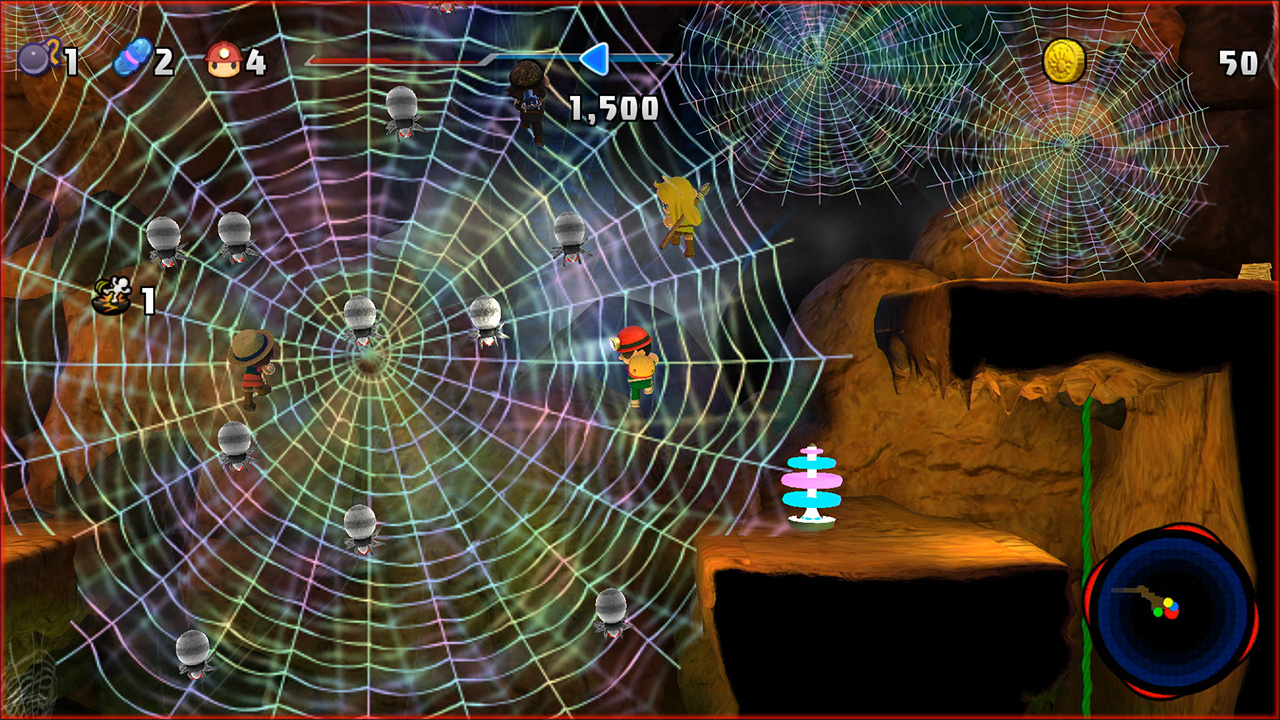 Spelunker Party Stage 01 Giant Spider Web
