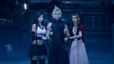 Fan Favorite Scene of Tifa and Aerith Holding Cloud