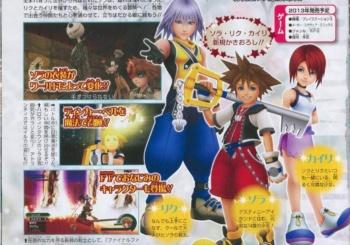 Kingdom Hearts 1.5 HD ReMIX V-Jump Magazine Scans