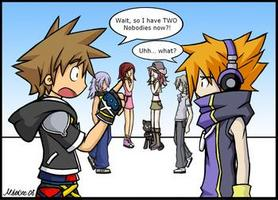 Neku in Kingdom Hearts Dream Drop Distance